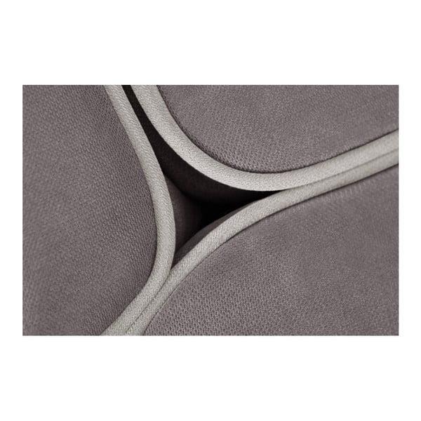Béžová rohová pohovka s lenoškou na pravé straně s detaily v krémové barvě L'Officiel Interiors Cara