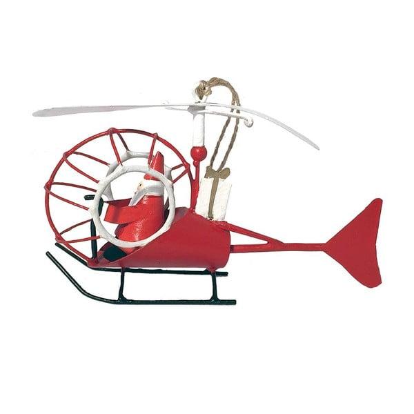Vianočná závesná ozdoba G-Bork Santa in Helicopter