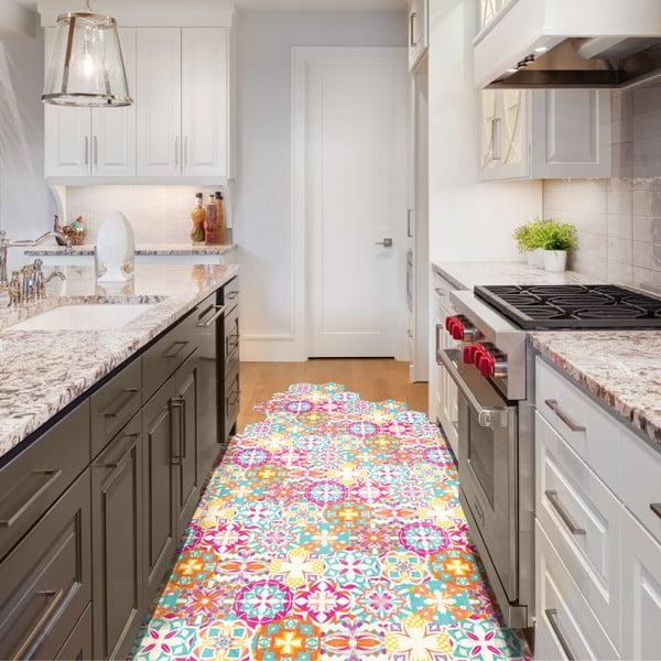 Sada 10 samolepiek na podlahu Ambiance Floor Stickers Hexagons Lusiana, 40×90 cm