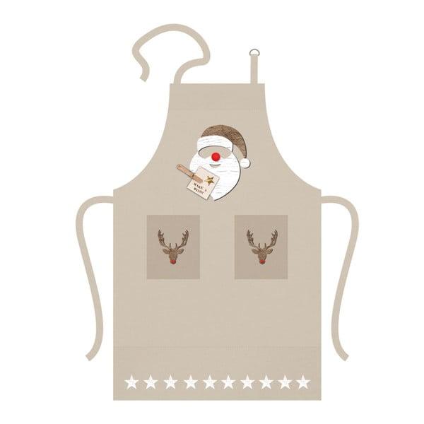 Santa Red Nose pamut konyhai kötény karácsonyi motívummal - PPD