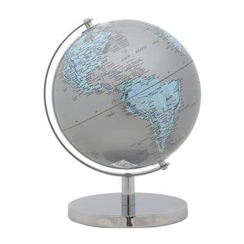 Glob decorativ Mauro Ferretti Mappamondo Silver, ⌀ 20 cm imagine