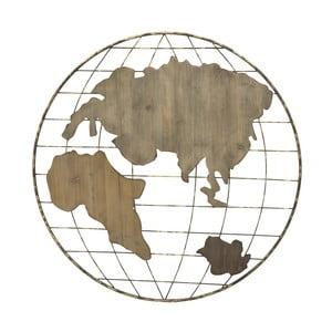 Decorațiune de perete Mauro Ferretti Globe Map, ⌀ 88 cm
