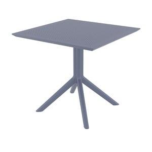 Tmavě šedý zahradní jídelní stůl Resol Sky, 80 x 80 cm