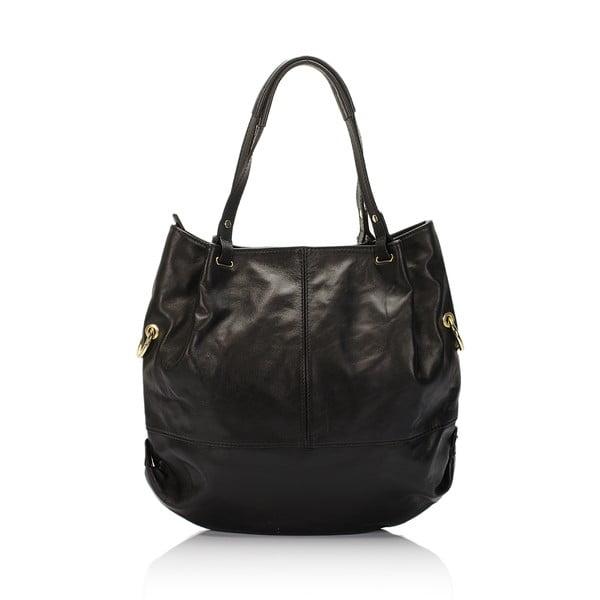 Kožená kabelka Piscila, černá