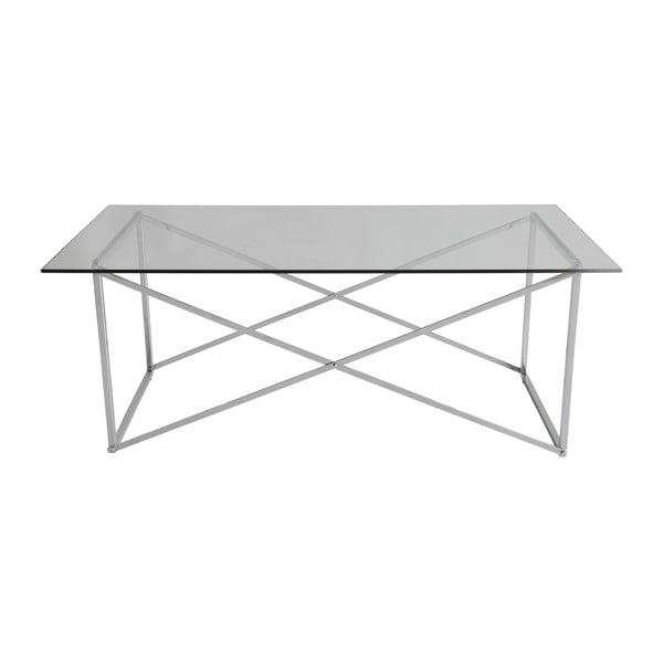 Chrómovaný konferenčný stolík RGE Cross, dĺžka 120 cm