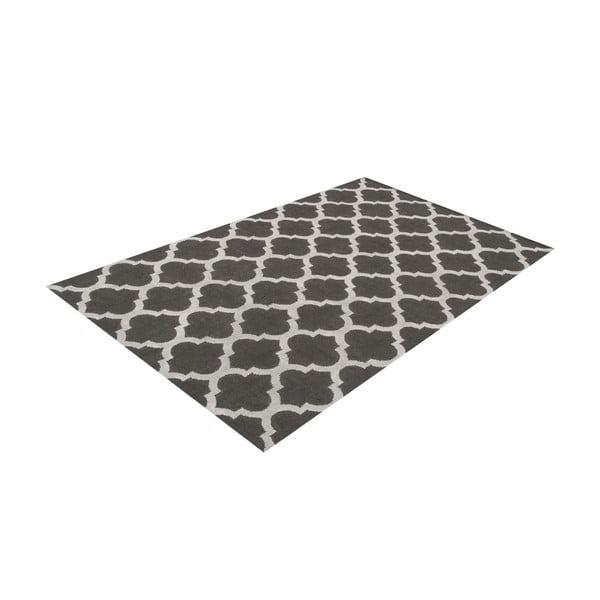 Ručně tkaný koberec Andrea Grey/White, 120x180 cm