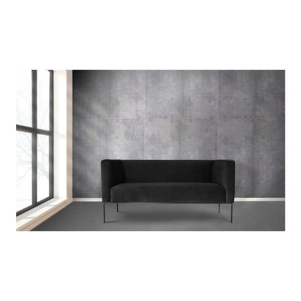 Canapea cu 2 locuri Windsor & Co. Sofas Neptune, negru