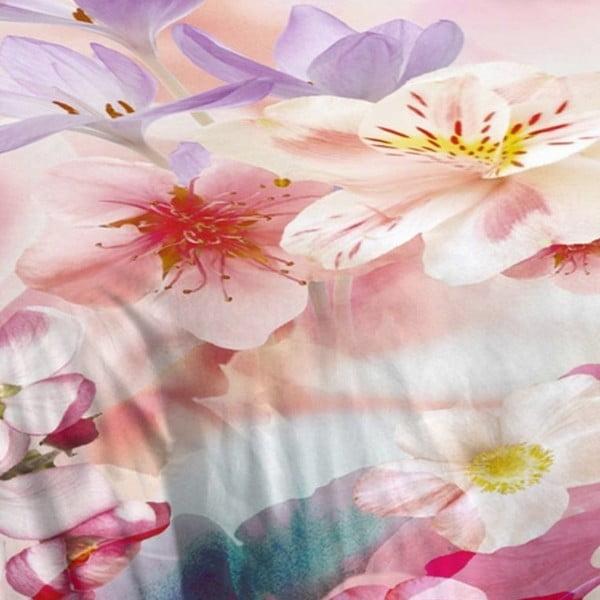 Růžové bavlněné povlečení Muller Textiel Descanso, 200 x 200 cm