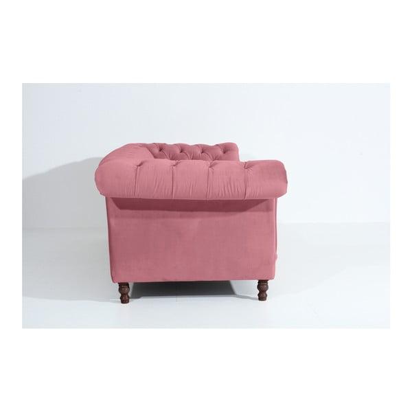 Růžová třímístná pohovka Max Winzer Ivette