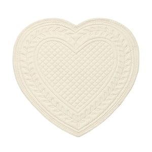 Bílé bavlněné prostírání ve tvaru srdce Côté Table