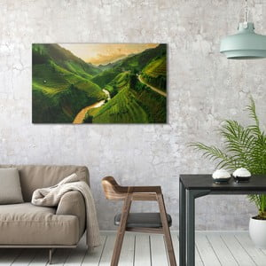 Obraz na plátně OrangeWallz Fields, 70 x 118 cm
