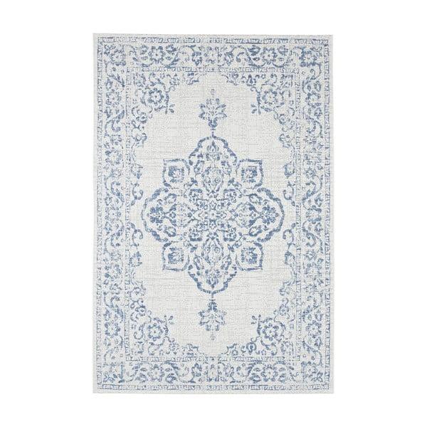 Niebiesko-kremowy dywan odpowiedni na zewnątrz Bougari Tilos, 120x170 cm