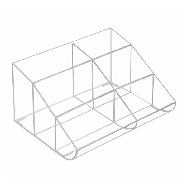 Organizator transparent cu 6 compartimente InterDesign