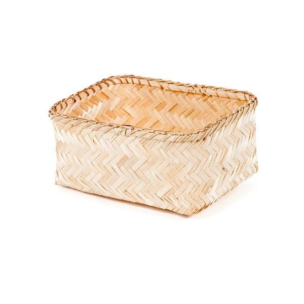 Úložný bambusový košík Compactor Halong Basket, 30 x 15 cm