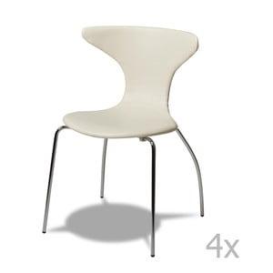 Sada 4 bílých židlí Furnhouse Suki