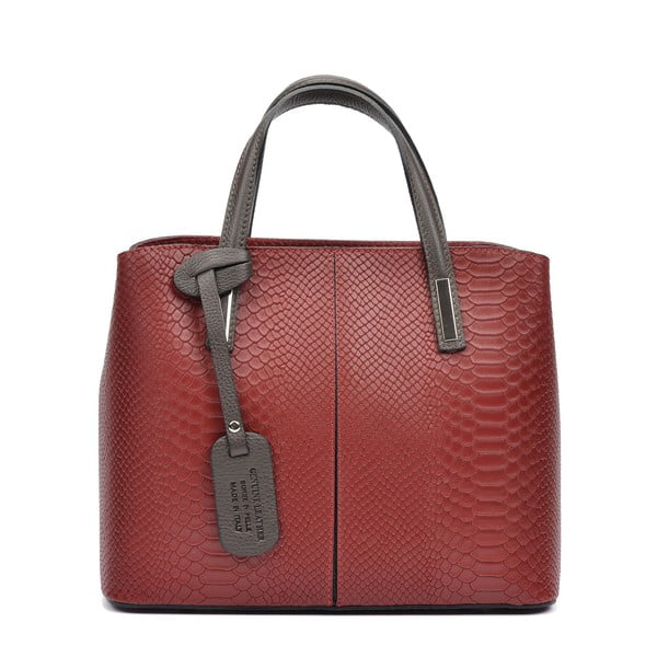 Tmavě červená kožená kabelka Roberta M Mattia