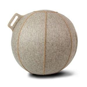 Šedo-béžový plstěný sedací míč VLUV, 65 cm