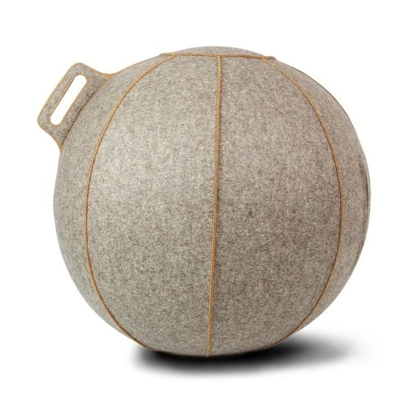 Šedo-béžový plstěný sedací míč VLUV, 75 cm