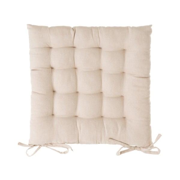 Beżowa poduszka na krzesło Unimasa, 40x40 cm