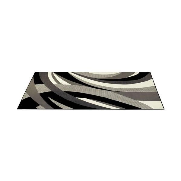Šedý koberec Hamla Curves, 200x290 cm
