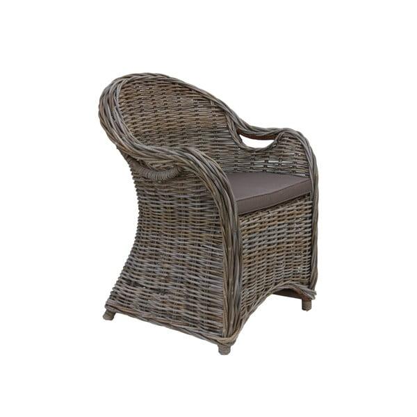 Parma rattan fotel sötétbarna ülőpárnával - HSM collection