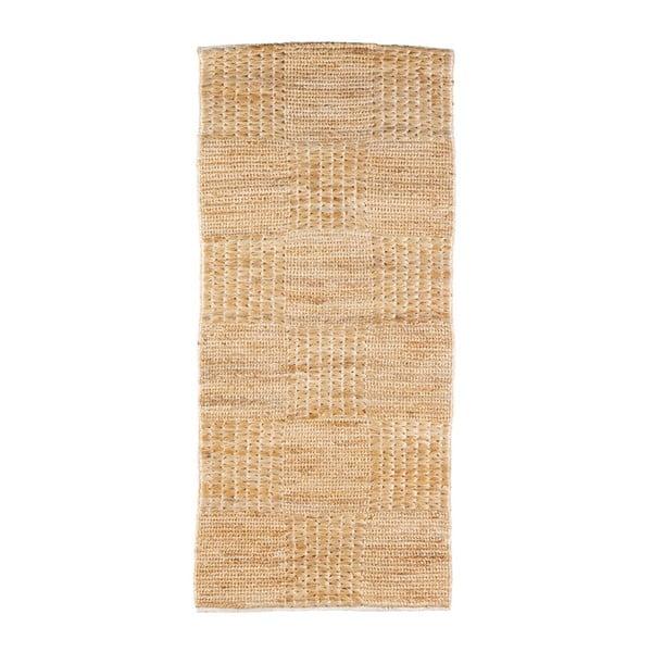 Scenes natúr színű juta szőnyeg, 140 x 70cm - BePureHome