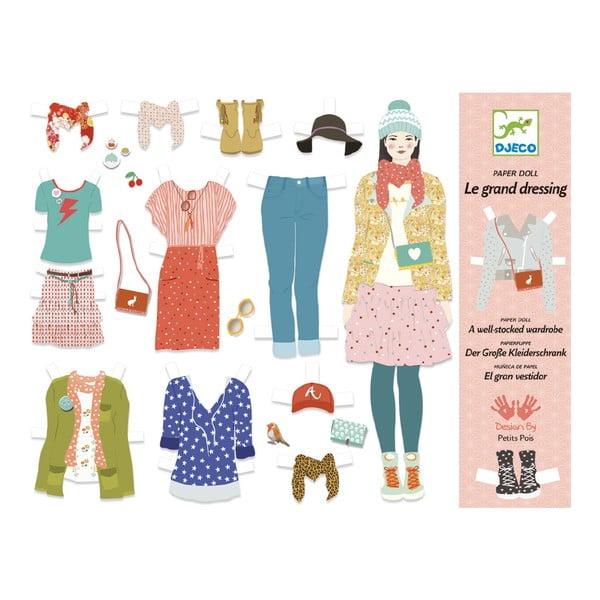 Sada papierových bábik a doplnkov Djeco Veľká šatňa