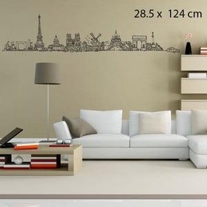 Samolepka All Paris, 124x28 cm