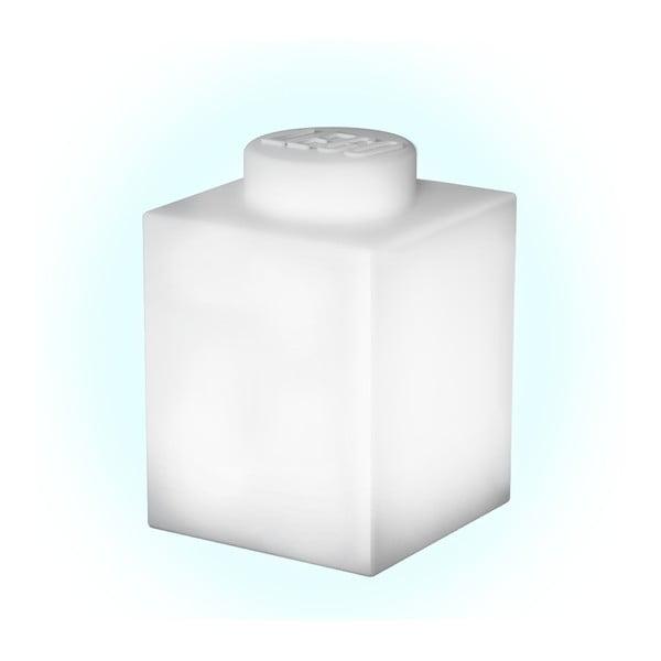 Biała silikonowa lampka nocna LEGO® Classic Brick