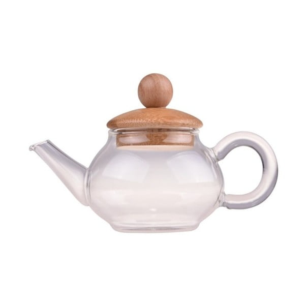 Dzbanek do herbaty z bambusowymi detalami Bambum Nia, 100 ml