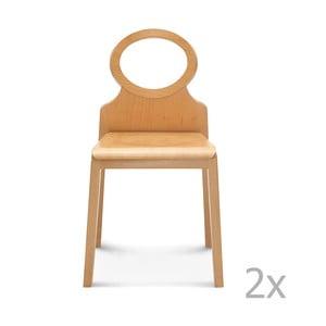 Sada 2 dřevěných židlí Fameg Gerdi