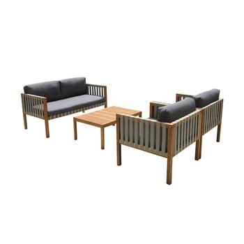 Set piese de mobilier de grădină din lemn exotic Ezeis Galupe