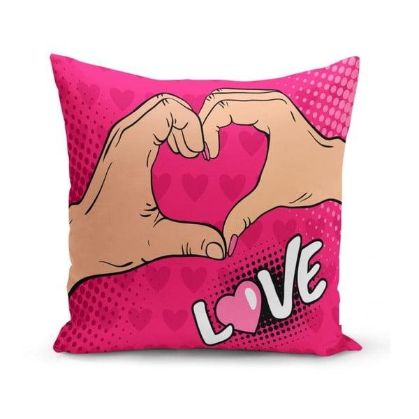 Față de pernă Minimalist Cushion Covers Love Hands, 45 x 45 cm