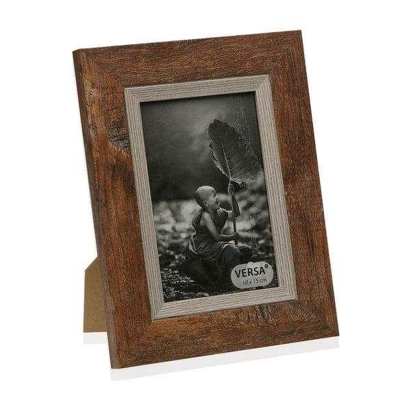Dřevěný rámeček na fotografii Versa Madera Marron, 10x15cm