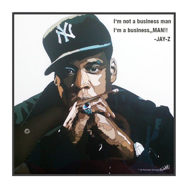 Obraz Jay Z I am not a business White