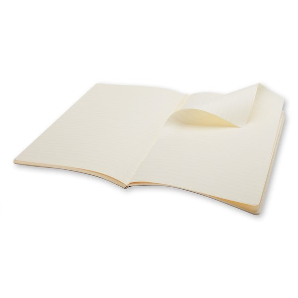 Extra velký bílý zápisník Moleskine Volant, linkovaný
