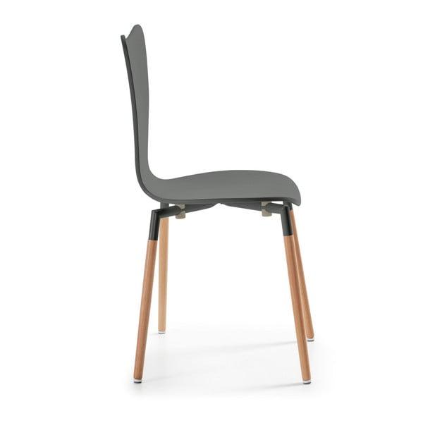 Sada 4 šedých jídelních židlí La Forma Eclectic