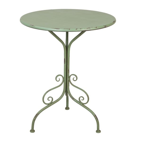 Kovový stolek Provence Table, 74x60 cm