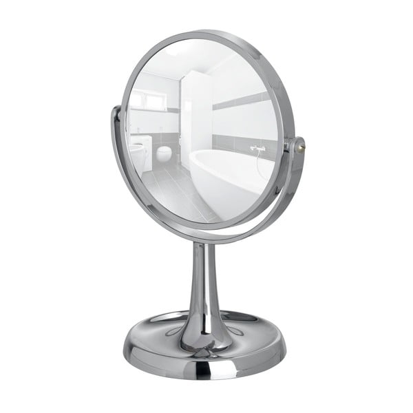 Oglindă cosmetică cromată Wenko Rosolina, înălțime 28 cm