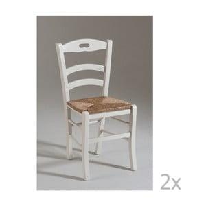 Sada 2 jídelních židlí se sedákem ze slámových stébel Castagnetti Nancy