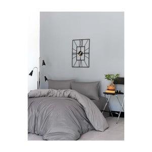 Set bavlněného povlečení na dvoulůžko Casual Grey, 200x220cm