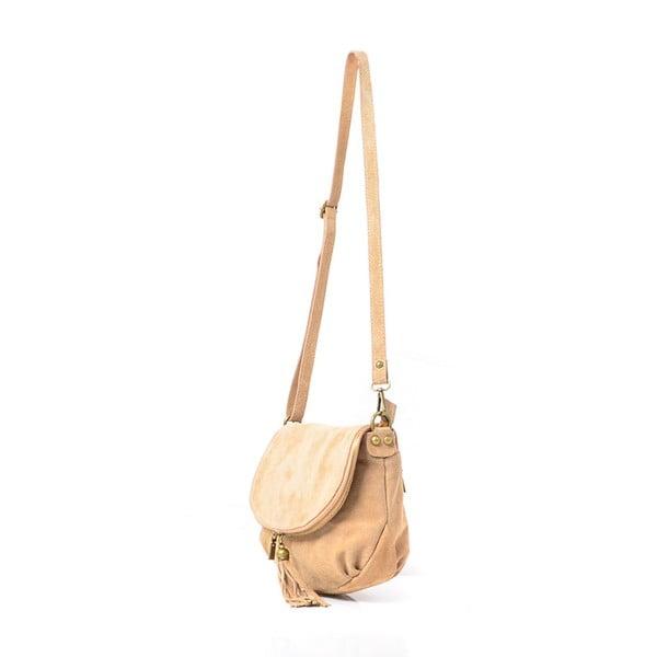 Kožená kabelka Louise, béžová