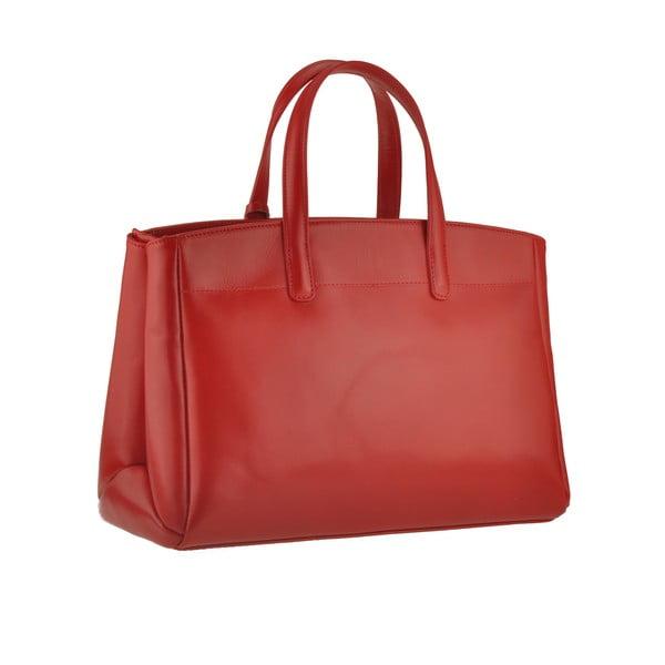Kožená kabelka Emilio Masi Propus, červená