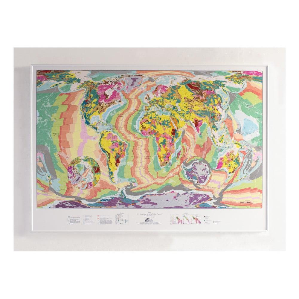 Magnetická nástěnná mapa The Future Mapping Company World Geology Map, 100x70cm