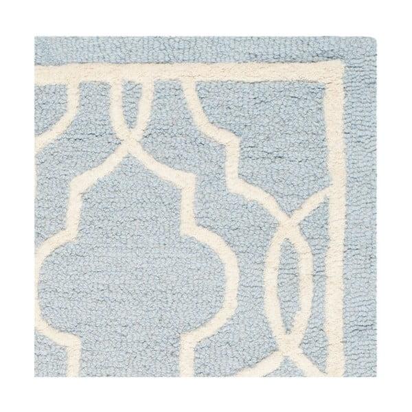 Vlněný koberec Safavieh Elle, 91x152 cm, světle modrý