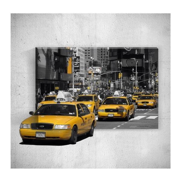 Nástěnný 3D obraz Mosticx Yellow Taxis, 40 x 60 cm