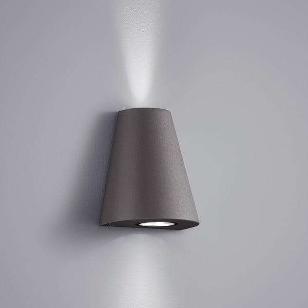 Venkovní nástěnné světlo Niagara Antracit, 17 cm