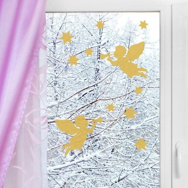 Samolepka Christmas Angels and Stars