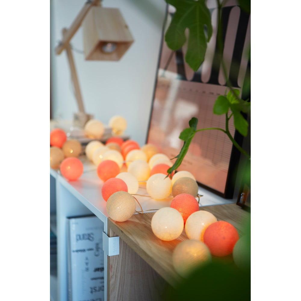 Světelný řetěz Irislights Peach Pie, 20 světýlek