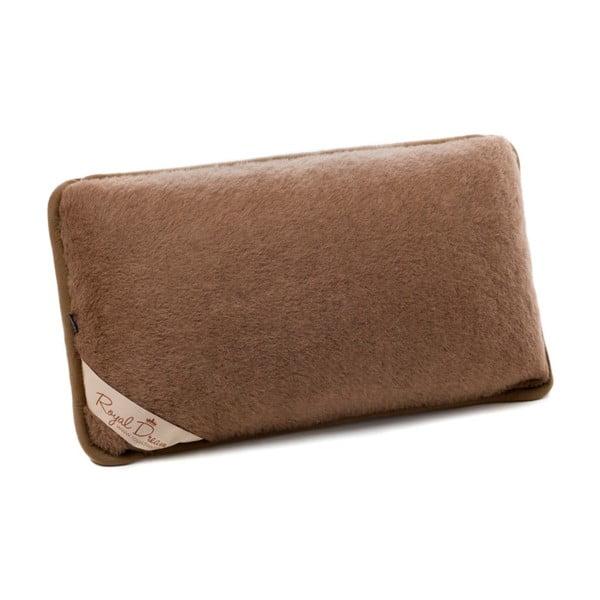 Brązowa poduszka z wełny wielbłądaRoyal Dream Chocolate, 40x70 cm